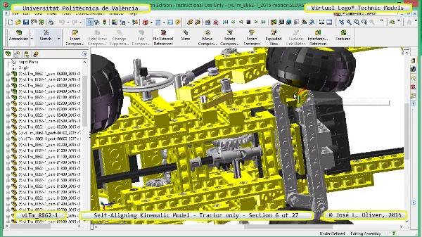 Simulación Dinámica Lego Technic 8862-1 - Tractor - sobre Base - 06 de 27