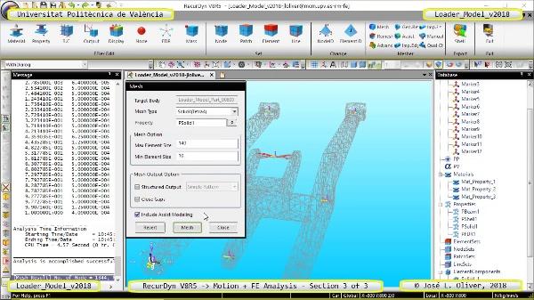 Simulación por Elementos Finitos de Cargadora Volvo L70C con Recurdyn V8R5 - 3 de 3