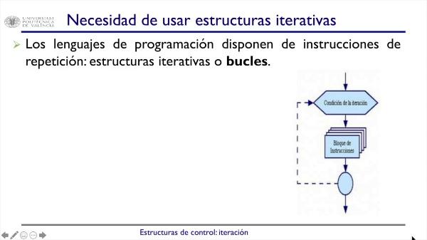 Estructuras de control: iteración