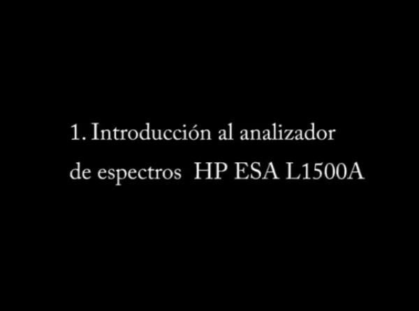 Analizador de Espectros HP ESA L1500A