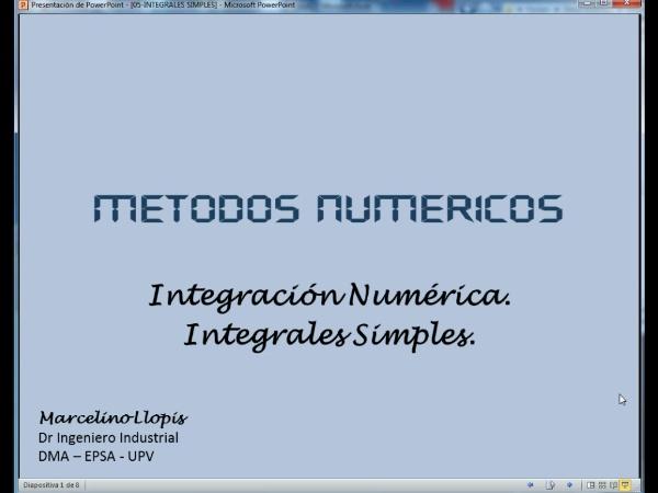 05-IN-SM-01 Integración Numérica. Introducción.