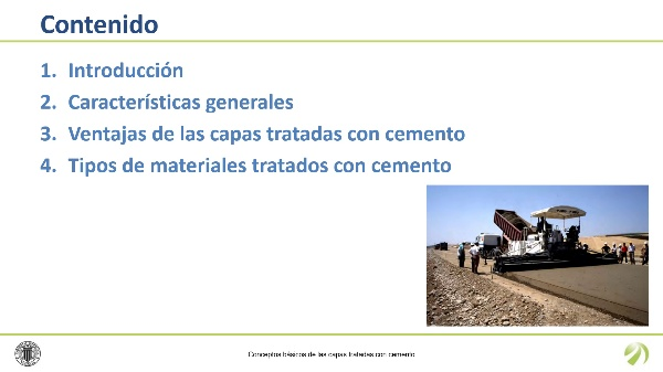 Conceptos básicos de las capas tratadas con cemento
