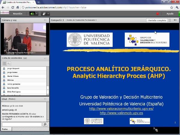 Proceso analítico jerárquico. AHP. 1ª parte