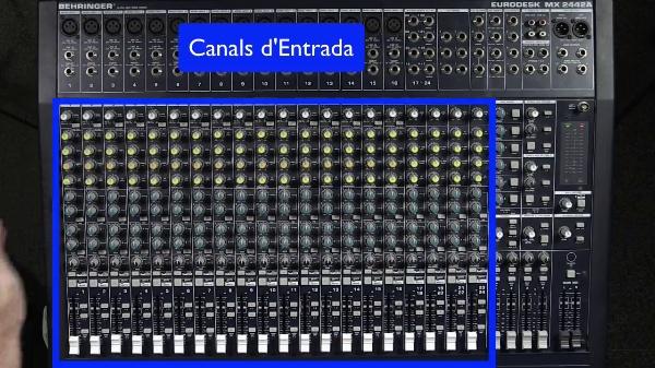 Taula Mescles Àudio - Canals d'Entrada