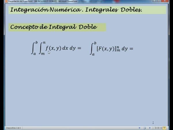06-IN-DO-01 Introducción a las Integrales Dobles