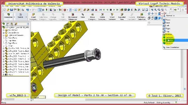 Creación Virtual Modelo Lego Technic 8862-1 ¿ Piezas 2 a 70 ¿ 32 de 36