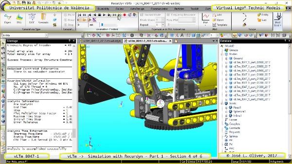 Simulación Cinemática Lego Technic 8047-1 con Recurdyn - Parte 1 ¿ 4 de 6
