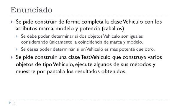 [IIP-OA] Implementación de la clase Vehiculo y TestVehiculo
