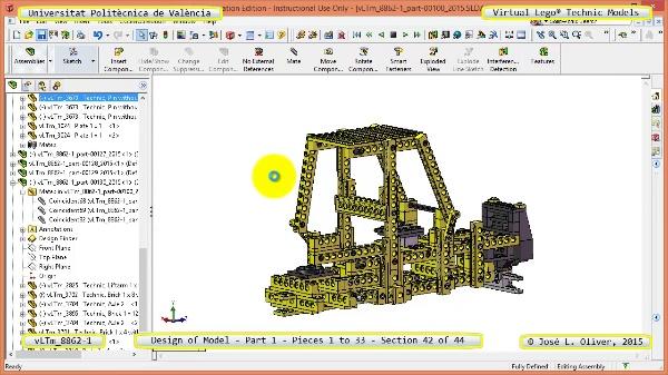 Creación Virtual Modelo Lego Technic 8862-1 ¿ Pieza 1 ¿ 42 de 44