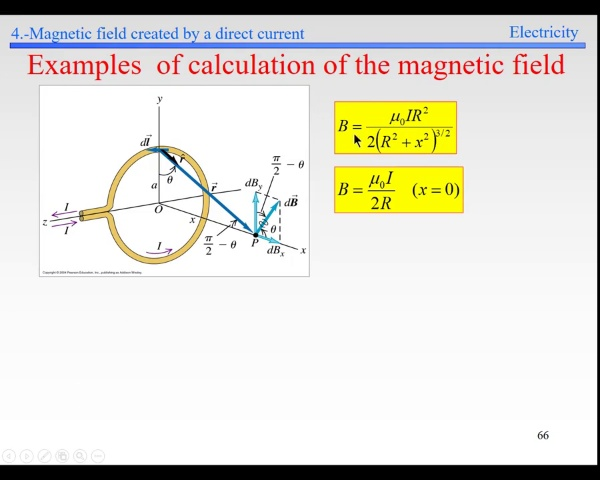 Elec-4-Magnetic Field-S65-S66-B created by a loop
