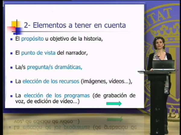 Elementos a tener en cuenta y componentes del relato digital