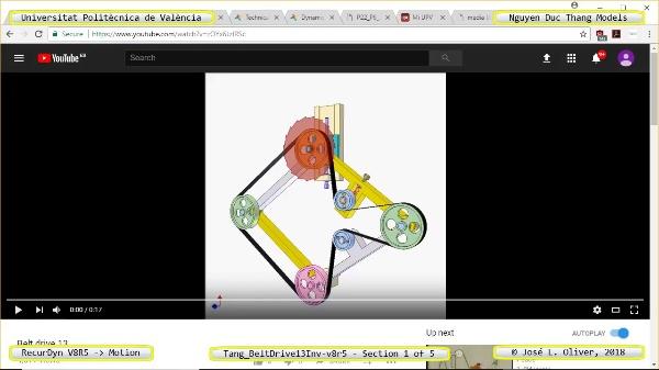 Simulación Cinemática Tang_BeltDrive13Inv-v8r5 con Recurdyn - RotaT - 1 de 5