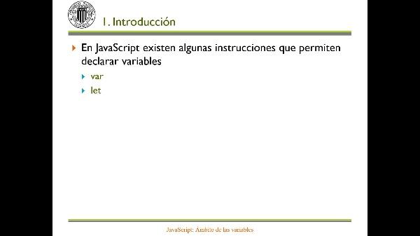 JavaScript: Ámbito de las variables