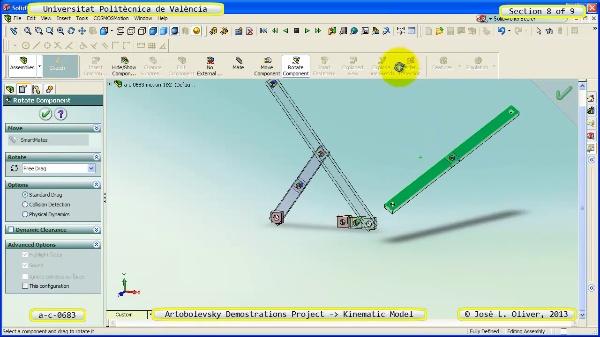 Simulación Mecanismo a_c_0683 con Cosmos Motion - 8 de 9