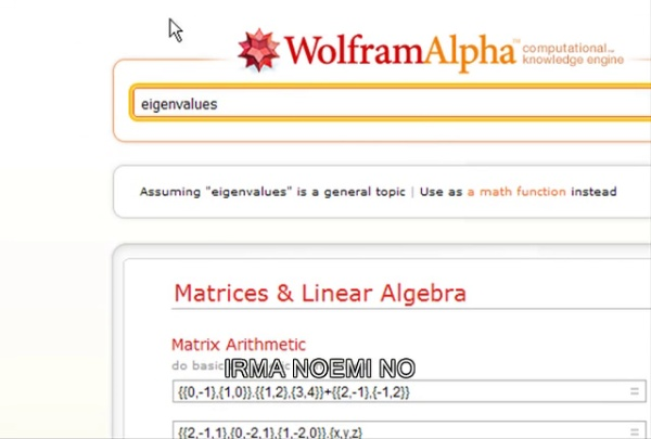 autovalores y autovectores con Mathematica online