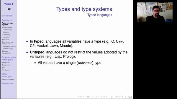 LTP - Unit 1 - Types (1/2)
