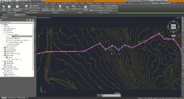 Creación de desfases en Civil 3D