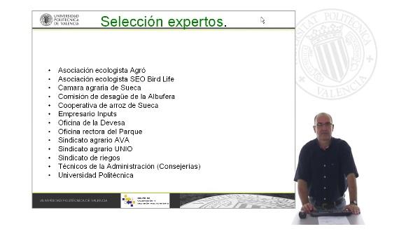 Determinación de la tecnología de cultivo mas adecuada, en función de criterios medioambientales. Selección entrevistados y resultados