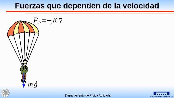 Aceleraciones no constantes: fuerzas que dependen de la velocidad