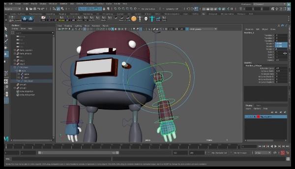 Controles Nurbs para brazos Robot.