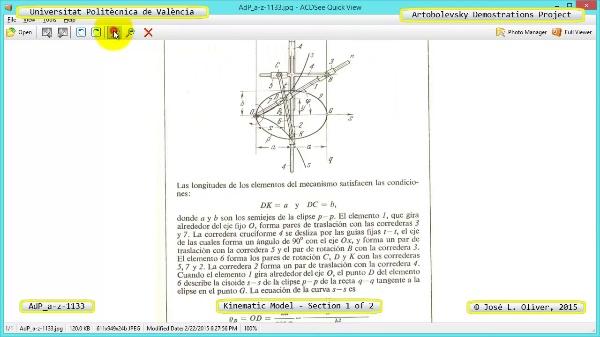 Simulación Mecanismo a-z-1133 con Cosmos Motion - 1 de 2
