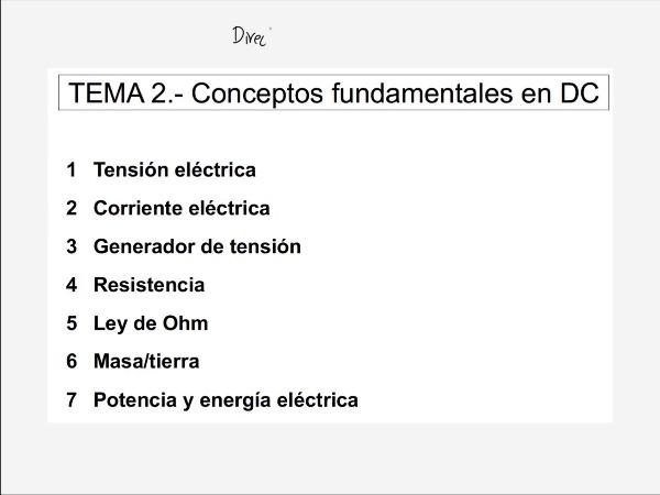 Teoría de Circuitos: 2.1.1.-  Concepto de tensión eléctrica