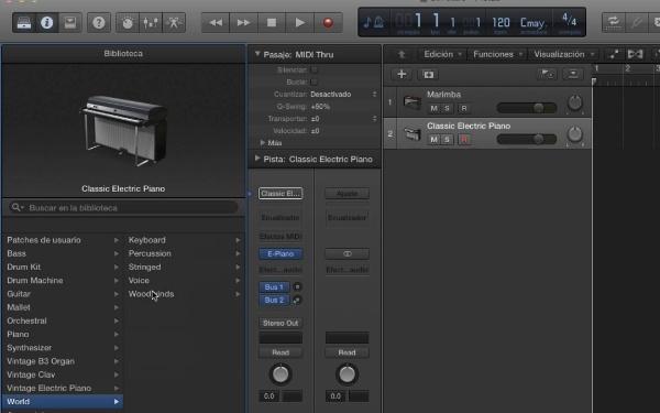 Tutorial Logic Pro X 5.2 Control de MIDI y Track Stacks