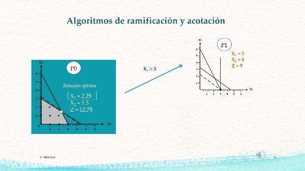 PROGRAMACIÓN ENTERA . ALGORITMOS DE RAMIFICACIÓN Y ACOTACIÓN