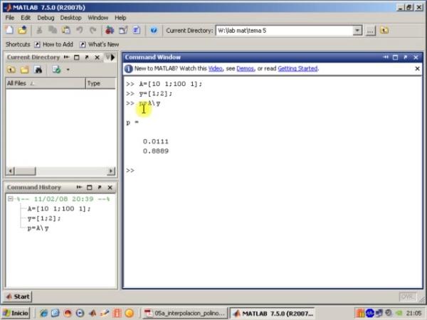 Tema 5. Interpolación polinómica. Interpolación lineal.