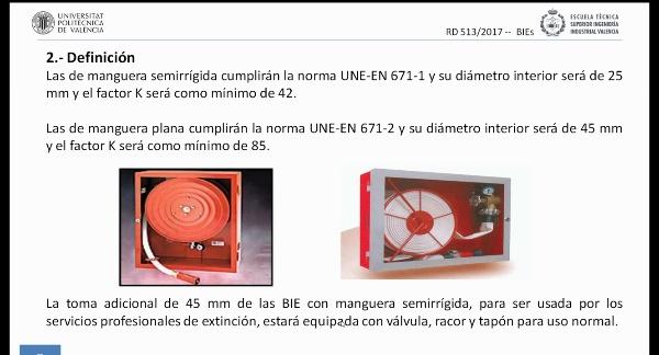 Reglamento de Instalaciones de Protección Contra Incendios (RIPCI). BIEs