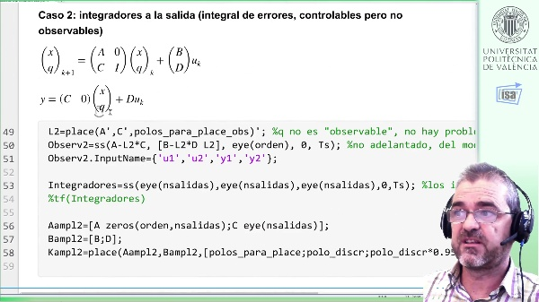 Caso estudio realimentación de la salida (3): simulación (Simulink)