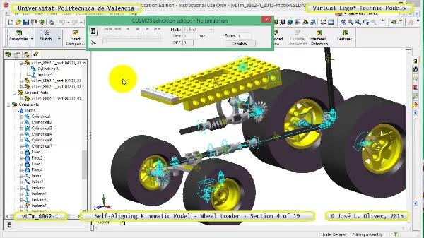 Simulación Cinemática Modelo Lego Technic 8862-1 -Cargador- 04 de 19