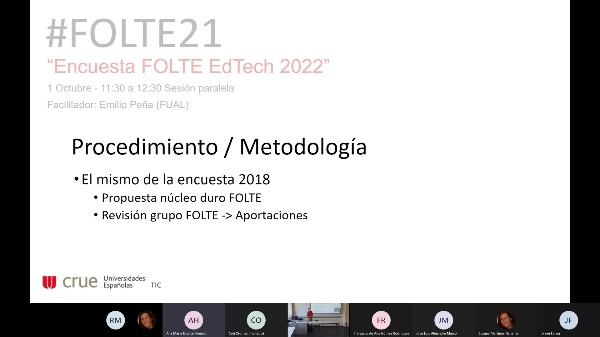 Sesión Paralela. Encuesta FOLTE EdTech 2022