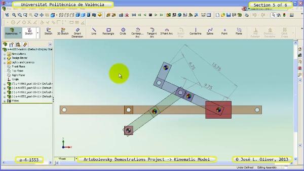 Simulación Mecanismo a_4_1553 con Cosmos Motion - 5 de 6