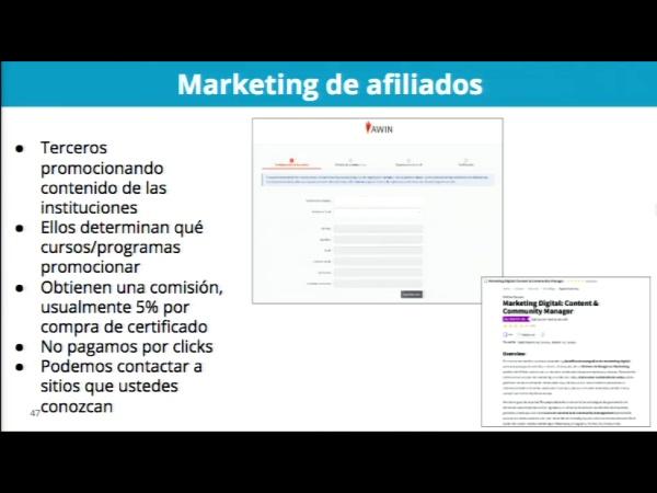 SPOC Gestión de MOOC. Marketing de edX. Marketing de afiliados