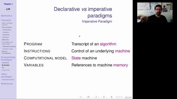 LTP - Unit 1 - Imperative vs declarative paradigms