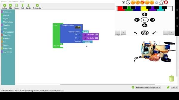 Control remoto por Bluetooth en Facilino