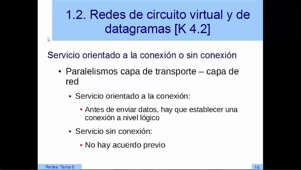 Redes de tipo circuito virtual y de tipo datagrama