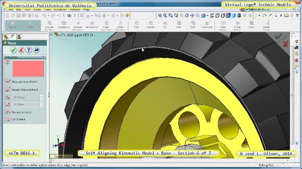 Simulación Dinámica Lego Technic 8816-1 sobre Base ¿ 6 de 7