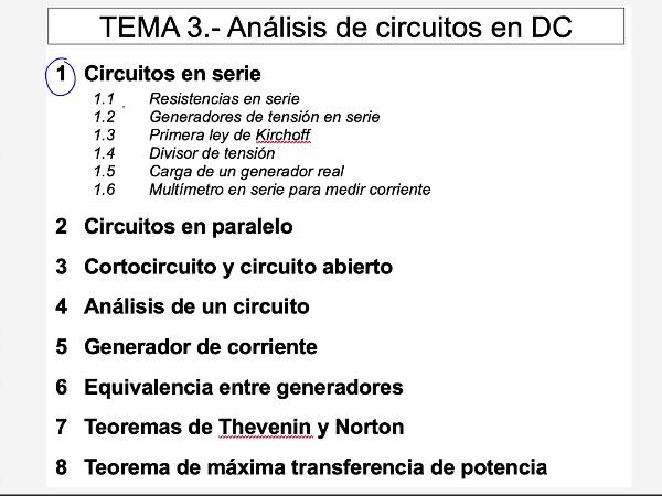 Teoría de Circuitos: 3.1.3.- Circuitos en serie. Ley de Kirchoff de Tensiones