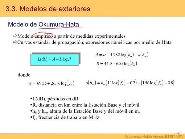Tema 3. Modelos de propagación II