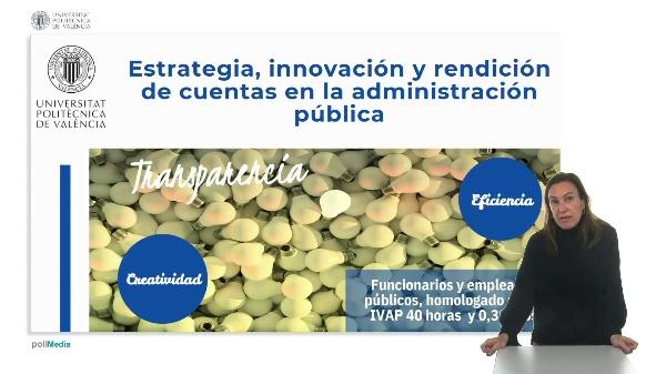 Estrategia, innovación y rendición de cuentas en la administración pública