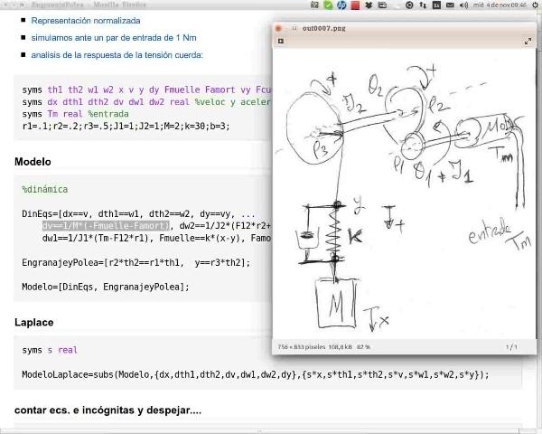 Sistema engranajes y poleas (lineal). Modelado y Función de transferencia
