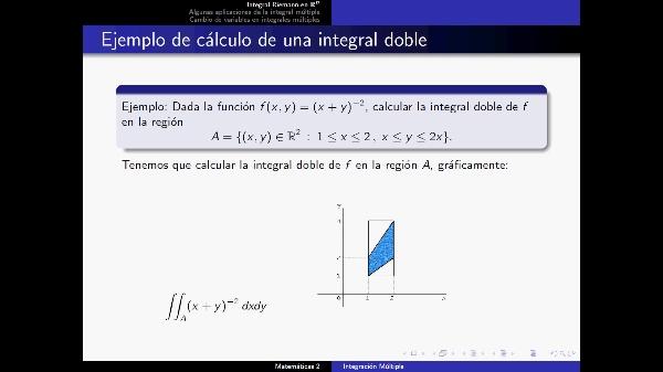 Problema 2 Integral doble
