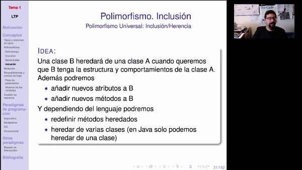LTP. Tema 1.2.2.2 Polimorfismo de inclusión o herencia