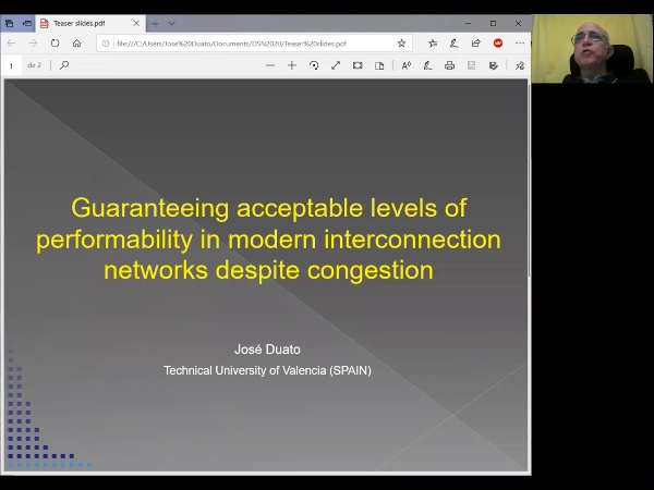 José Duato - Guaranteeing acceptable levels of performability in modern interconnection networks despite congestion