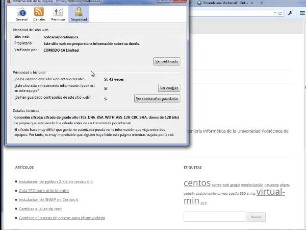 Renovación e instalación de un certificado SSL