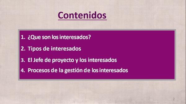(Gestión de Proyectos) Tema 3: Las partes Interesadas