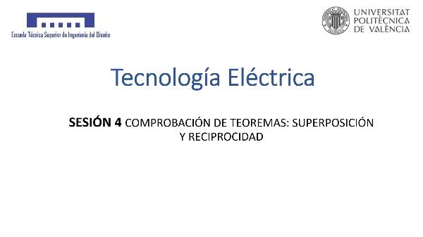 Sesión 4: Teorema de superposición