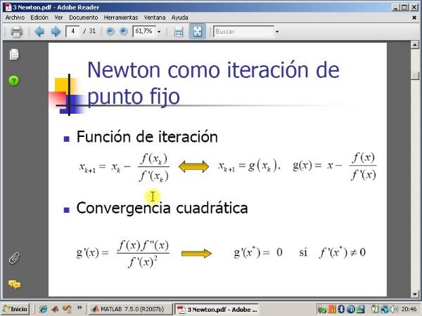 Tema 3. F(x)=0. El método de Newton